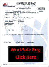 Aluminium Scaffold fully tested to comply with Australian Standards and Worksafe Registered
