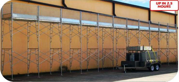 collect your frame scaffold in a trailer pack