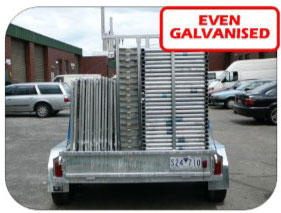 take your galvinised scaffolding home in a super slick trailer pack