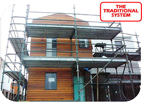 Quick Scaff or Quick Stage Scaffolding is the Traditional Scaffolding System